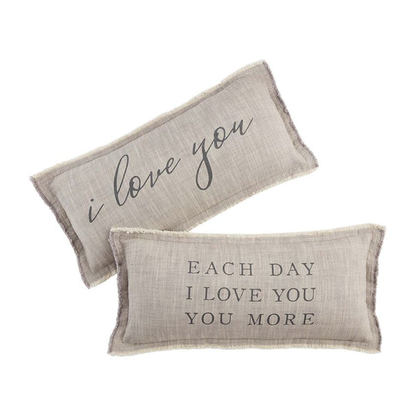 Mud Pie Love Pillows- 2 Styles