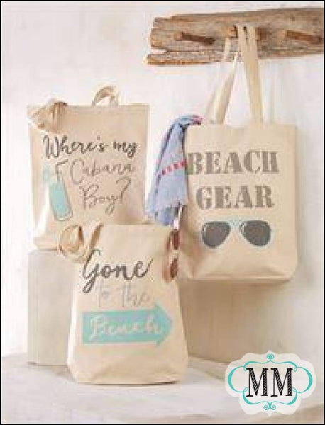 Beach Totes Canvas ~Asst sayings - Canvas Totes