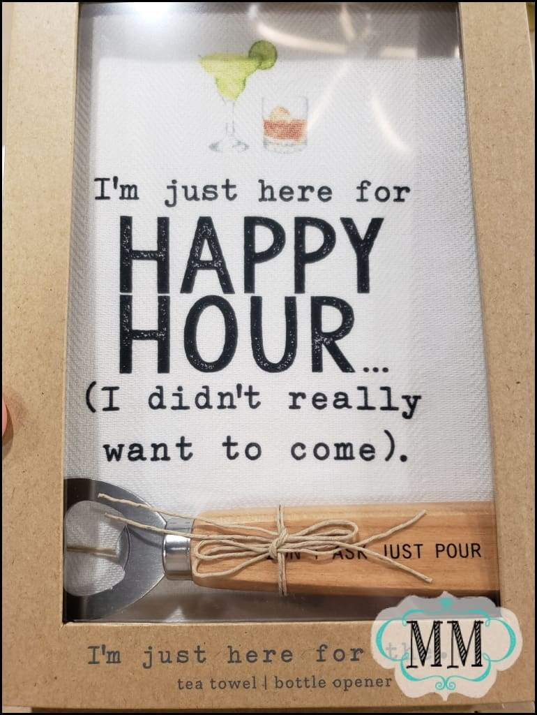 Im just here for... hand towel and spreader set- 4 styles - Happy hour - Towel