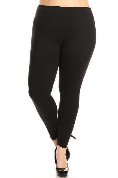 Wide Band Leggings- Plus Size