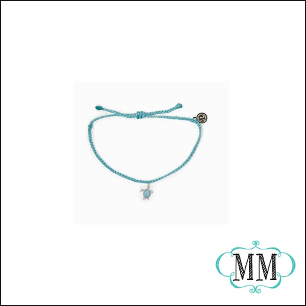 PURAVIDA SEA TURTLE BRACELET WITH STONE - Bracelet
