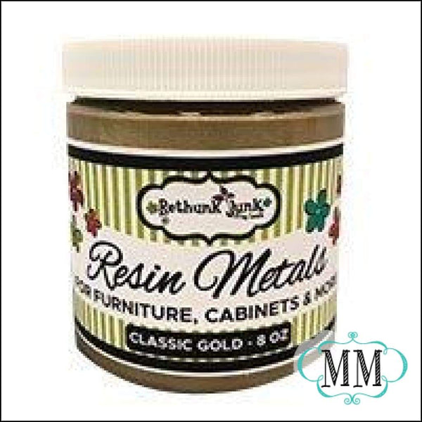 Rethunk Junk by Laura - 8oz Resin Metals Paint Classic Gold - Classic Gold - DIY
