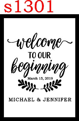 s1301 Welcome to Our Beginning