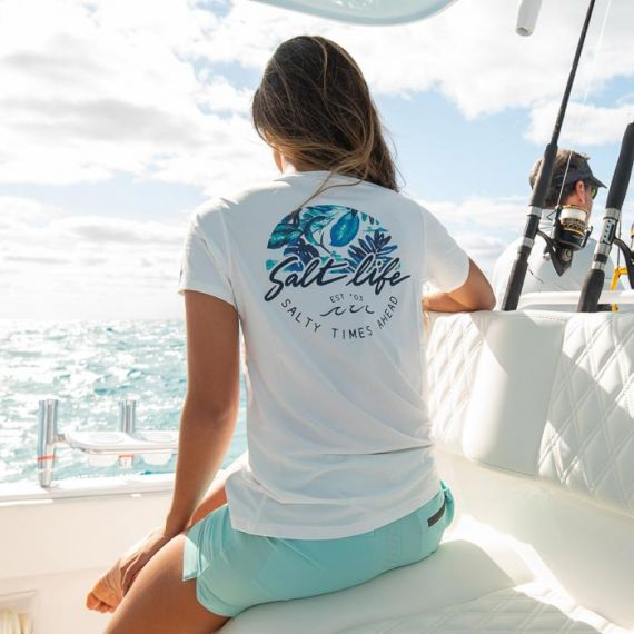 Salt Life - Escape to Paradise Badge Short Sleeve Performance Tee