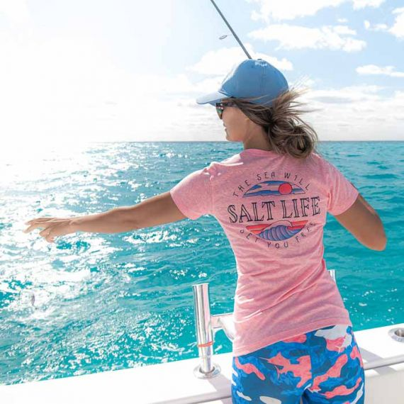 Salt Life Set You Free Tri-Blend V-Neck Tee
