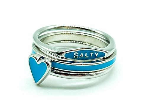 Pura Vida Salty Enamel Stacking Rings- 3pc
