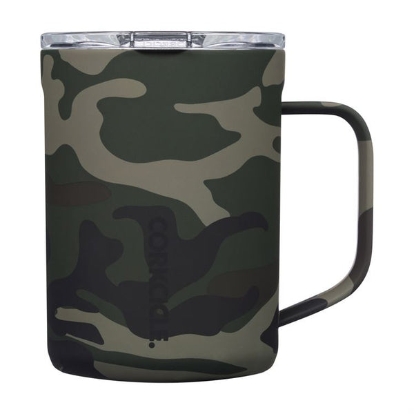 Corkcicle 16 oz. Coffee Mug- Woodland Camo