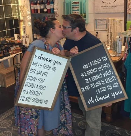 couples sign