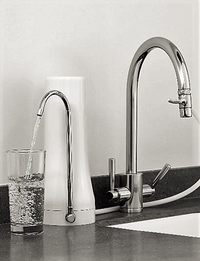 Coldstream High Flow Plastic Countertop Water Filter System and Tap