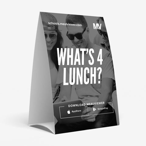 "High School ""What's 4 Lunch?"" Table Tent - 20 pack"