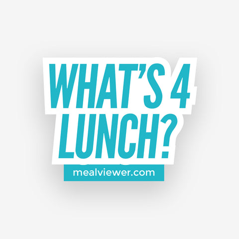 """What's 4 Lunch?"" Sticker - 10 Pack"