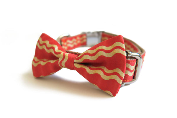 Don't Go Bacon My Heart Bow Tie