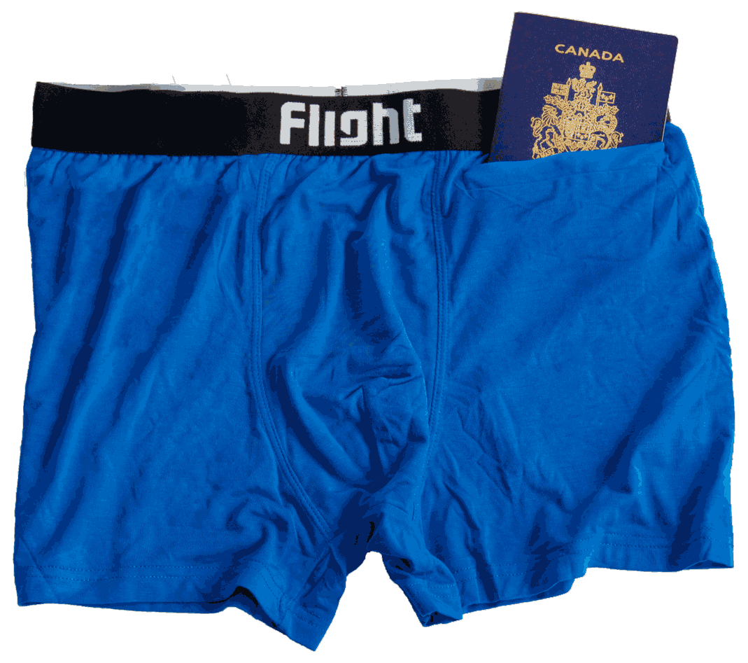 Travel Underwear with a Pocket