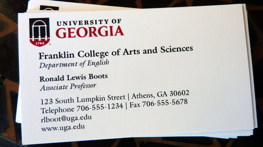 UGA Business Cards – Bel Jean Copy Print