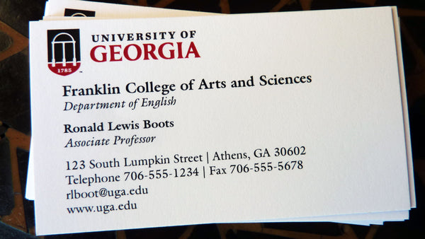 UGA Business Cards