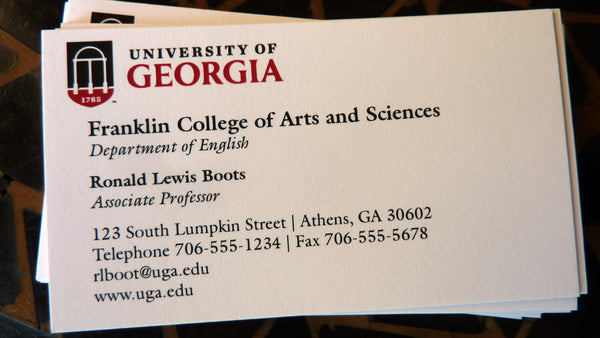 UGA Professor and Faculty Business Card