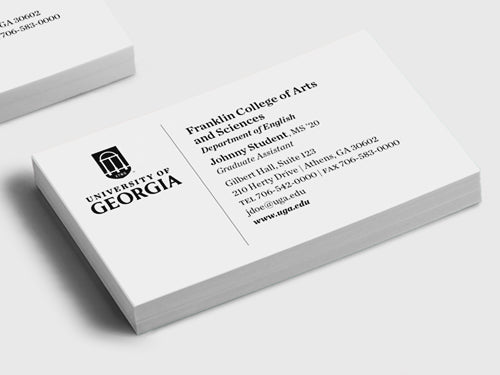 UGA Student Business Card