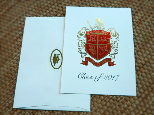 High School Graduation Invitation - Clarke Central - Foil Embossed
