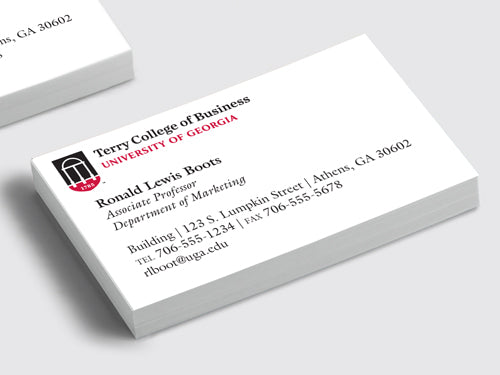 UGA Terry College Professor and Faculty Business Cards