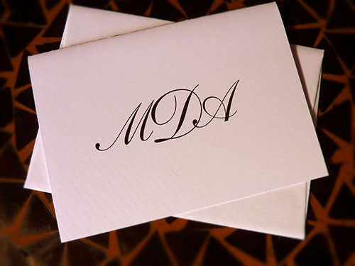 Thank You/Note Card - Monogram