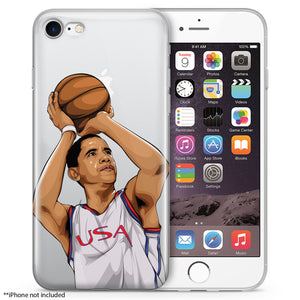 Barack Basketball iPhone Case