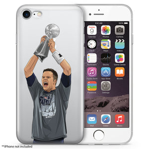 GOAT Trophy Football iPhone Case