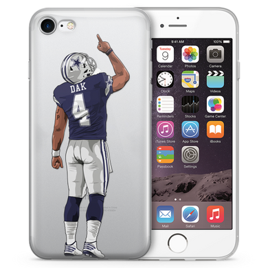 Dak Blue Football iPhone Case