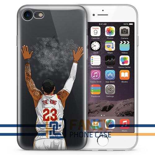 King White Basketball iPhone Cases