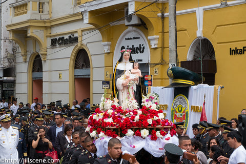 St. Rose of lima religious parade