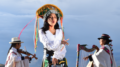 Renata Flores Rivera - Peruvian Quechua singer and rapper who is a singer, composer, and activist aiming to preserve the native language and cultural customs by singing in Quechua.