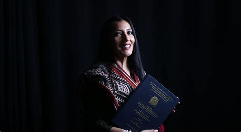 Roxana Quispe Collantes - A doctoral student who made history by becoming the first person to write and defend a thesis in the Incan language, Quechua.