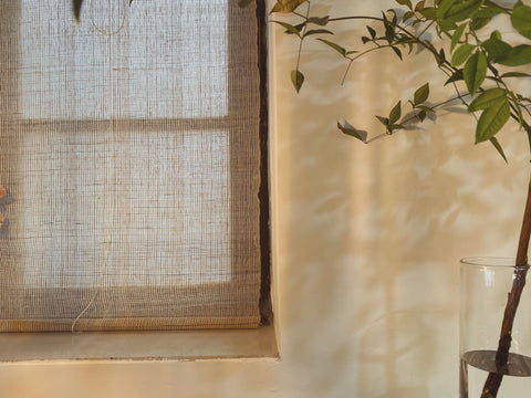 Linen fabric shadow plant sustainable