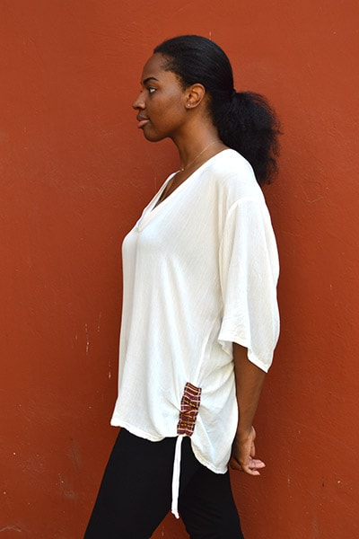 Barbara Beach Cover-up - White - Huaywasi: Handmade in Peru