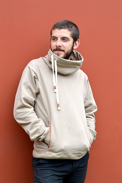 Zachary Cowl Neck (Men's) (Oatmeal)
