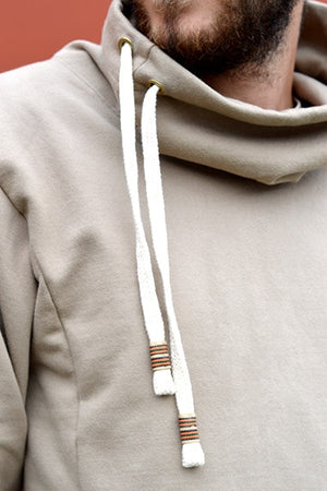Zachary Cowl Neck (Men's) (Oatmeal) - Huaywasi: Handmade in Peru