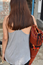 Load image into Gallery viewer, Incan Cross Yoga Tank (Slate) - Huaywasi: Handmade in Peru