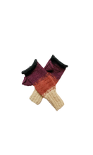 Load image into Gallery viewer, Arequipa Fingerless Gloves (Crimson Sky) - Huaywasi: Handmade in Peru