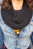Chunky Infinity Scarf (Tight Fit) (Midnight) - Huaywasi: Handmade in Peru