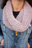 Chunky Infinity Scarf (Tight Fit) (Thistle) - Huaywasi: Handmade in Peru