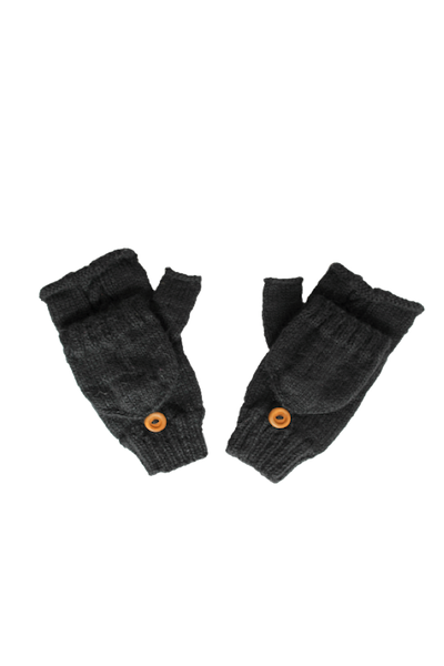 Huancayo Convertible Gloves (Midnight) - Huaywasi: Handmade in Peru