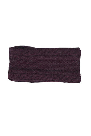 Jillian Cableknit Scarf- Oatmeal with Berries