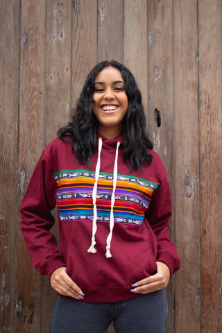 Lizzy Embroidered Sweatshirt (Deep Red)