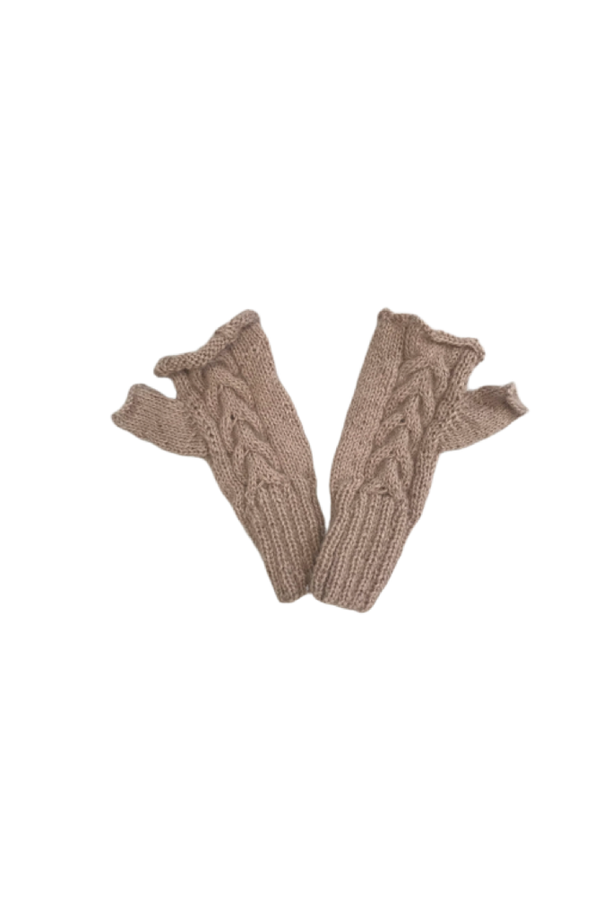 Tacna Fingerless Gloves (Thistle) - Huaywasi: Handmade in Peru