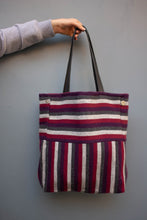 Load image into Gallery viewer, Vertical Violets Tote - Huaywasi: Handmade in Peru