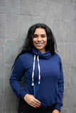 Zachary Cowl Neck Sweatshirt (Blueberry) - Huaywasi: Handmade in Peru