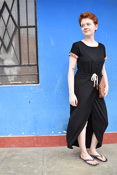 Polera Dress - Black - Huaywasi: Handmade in Peru