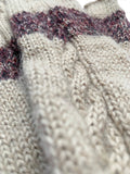 Jillian Fingerless Arm Warmers- Oatmeal with Berries - Huaywasi: Handmade in Peru