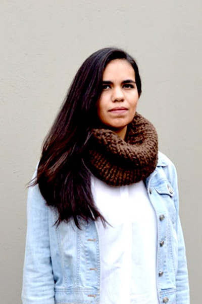 Chunky Infinity Scarf (Brown) (Tight Fit)