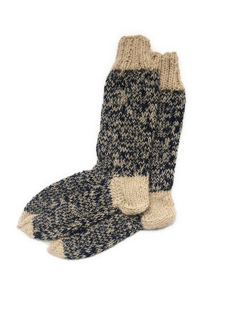 Puno Slipper Socks (Navy) - Huaywasi: Handmade in Peru