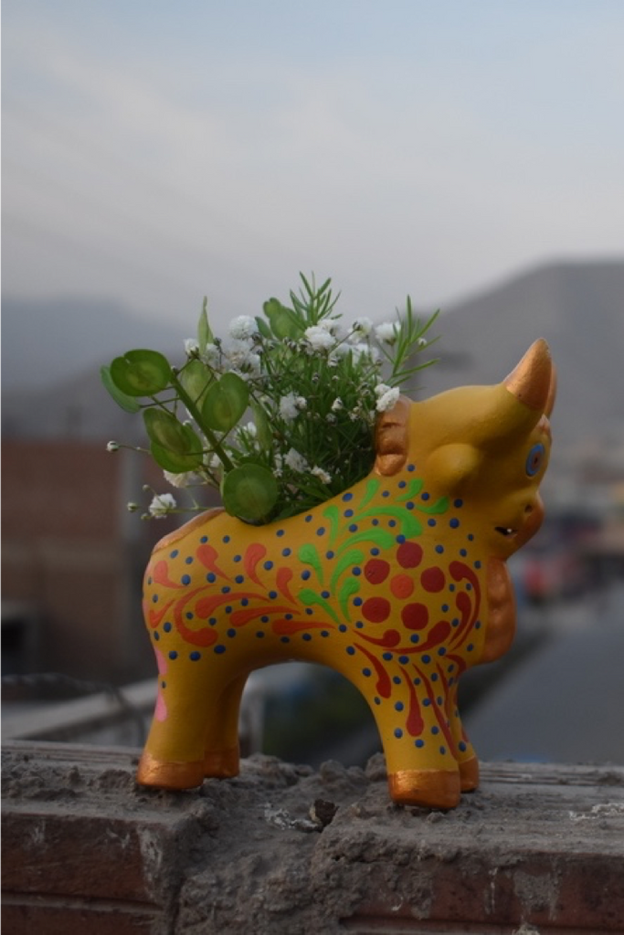 Pucará Planter (Yellow) - Huaywasi: Handmade in Peru